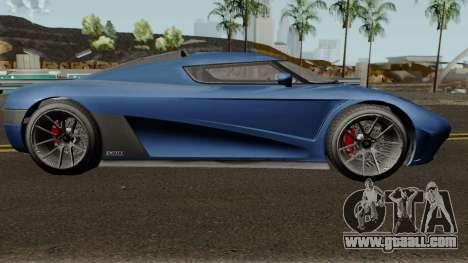 Overflod Entity XXR GTA V for GTA San Andreas back view