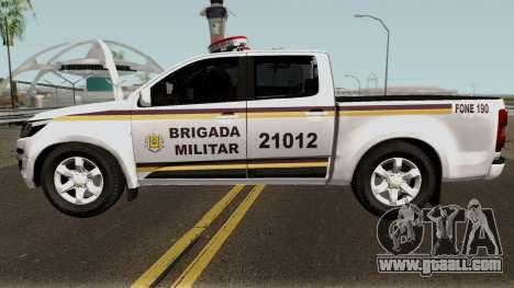 Chevrolet S-10 2017 Brigada Militar for GTA San Andreas
