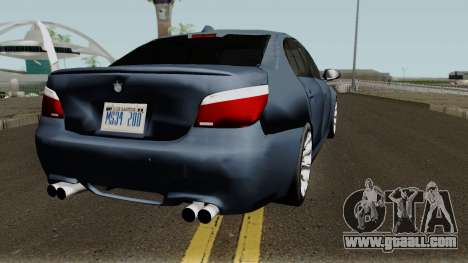 BMW M5 Low-poly for GTA San Andreas