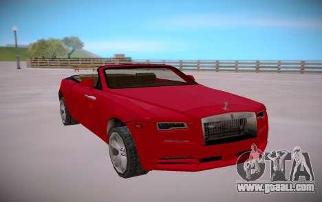 Rolls Royce Dawn 2016 SA StyledLow Poly for GTA San Andreas