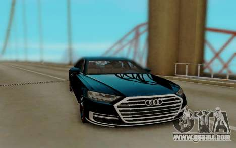 Audi A8 2018 for GTA San Andreas back left view