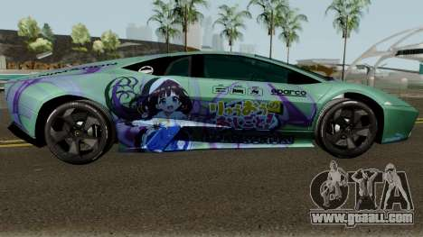 Lamborghini Reventon Itasha Hinatsuru for GTA San Andreas back view