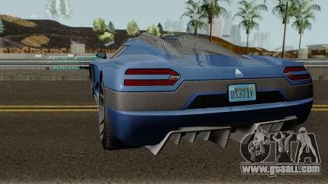Overflod Entity XXR GTA V for GTA San Andreas back left view