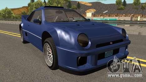 Vapid GB200 GTA V for GTA San Andreas inner view