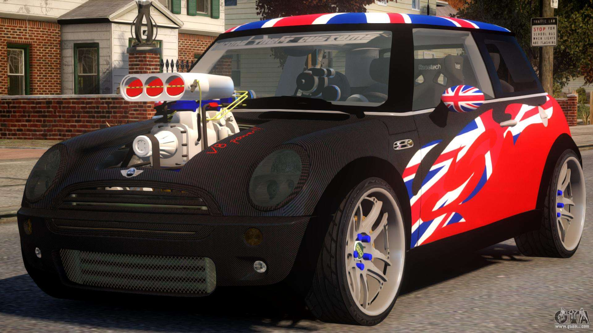 mini cooper s v8 uk for gta 4. Black Bedroom Furniture Sets. Home Design Ideas
