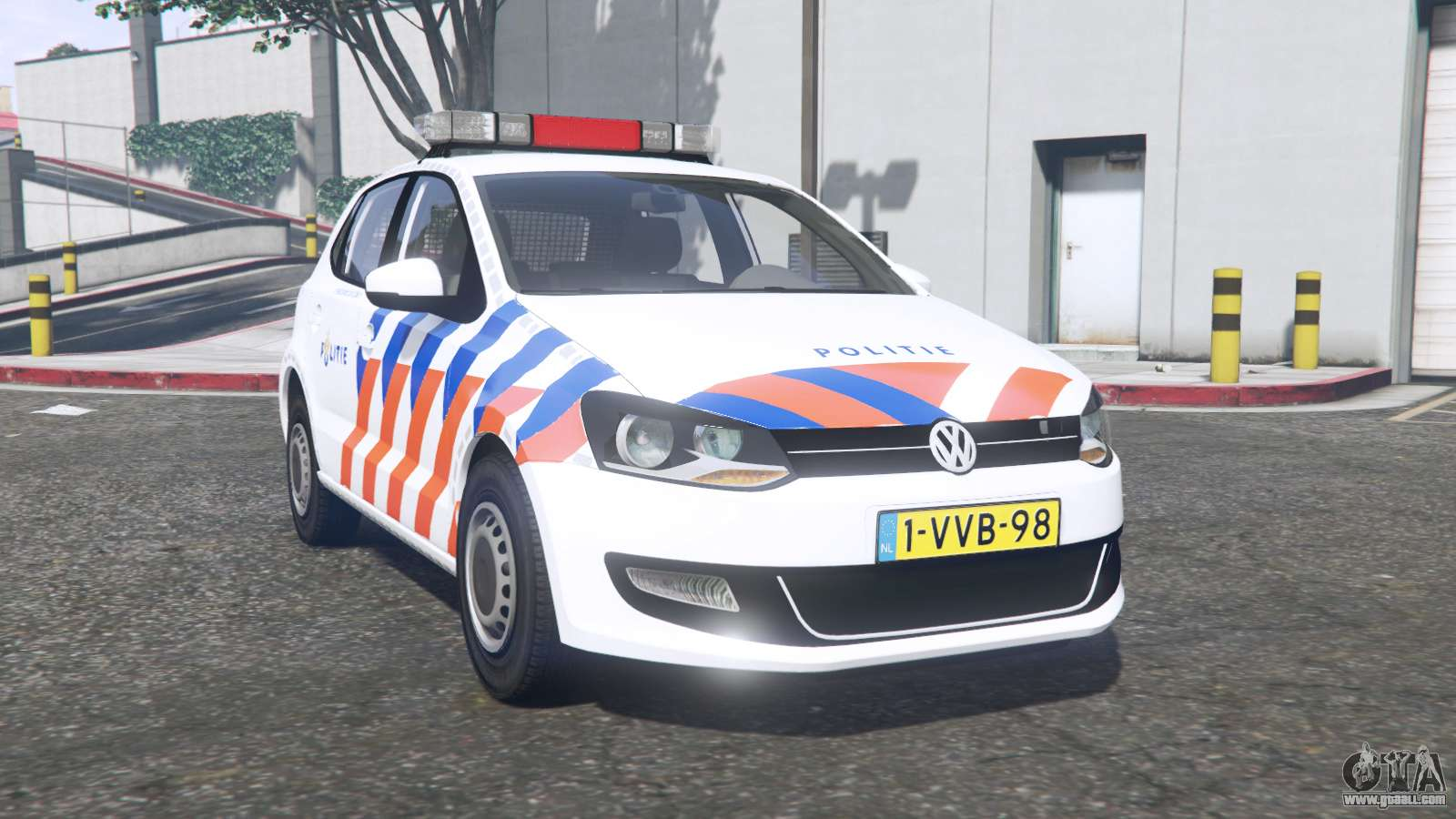 volkswagen polo 2011 politie els replace for gta 5. Black Bedroom Furniture Sets. Home Design Ideas