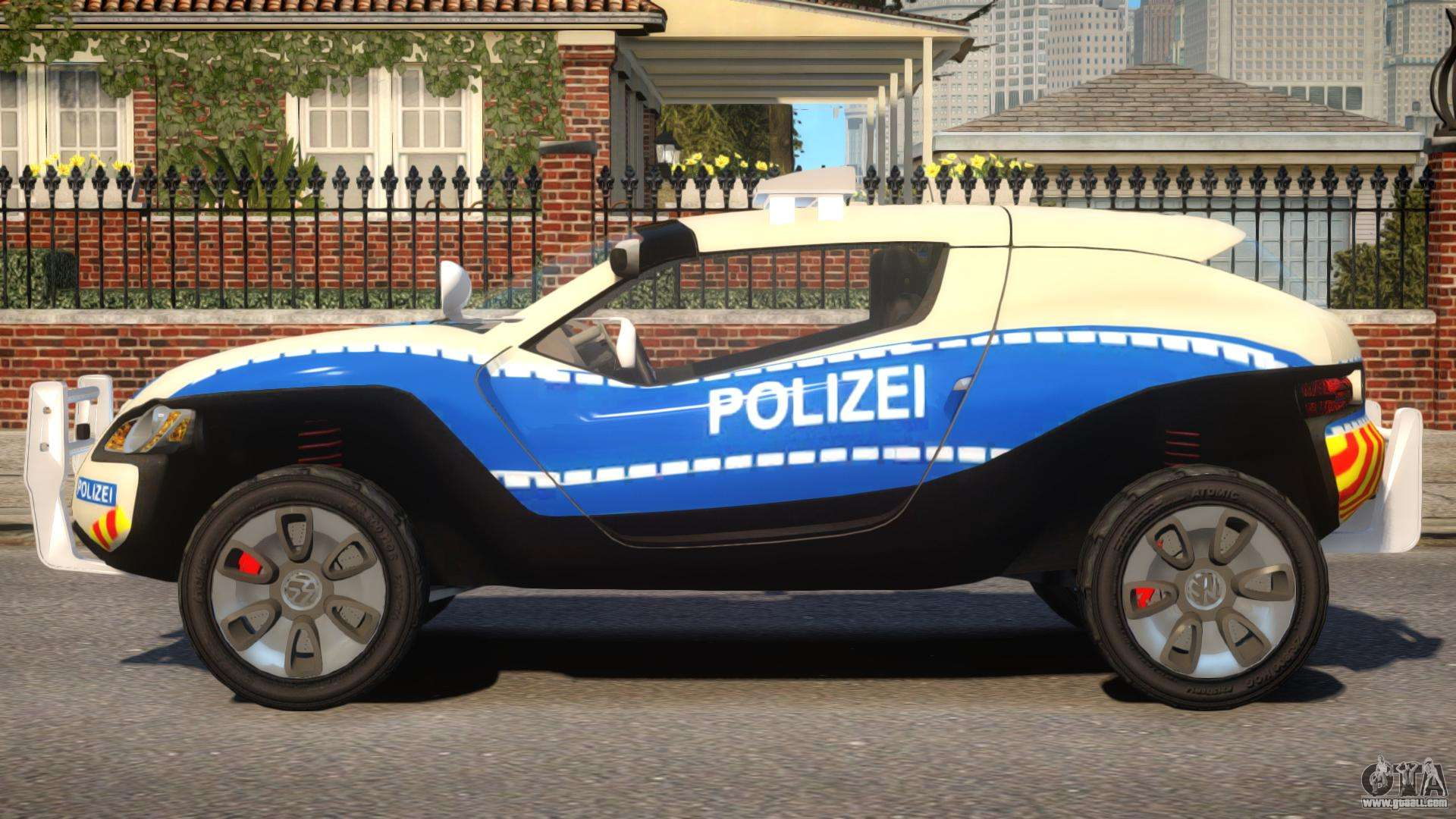 VW Concept T German Police Car For GTA 4