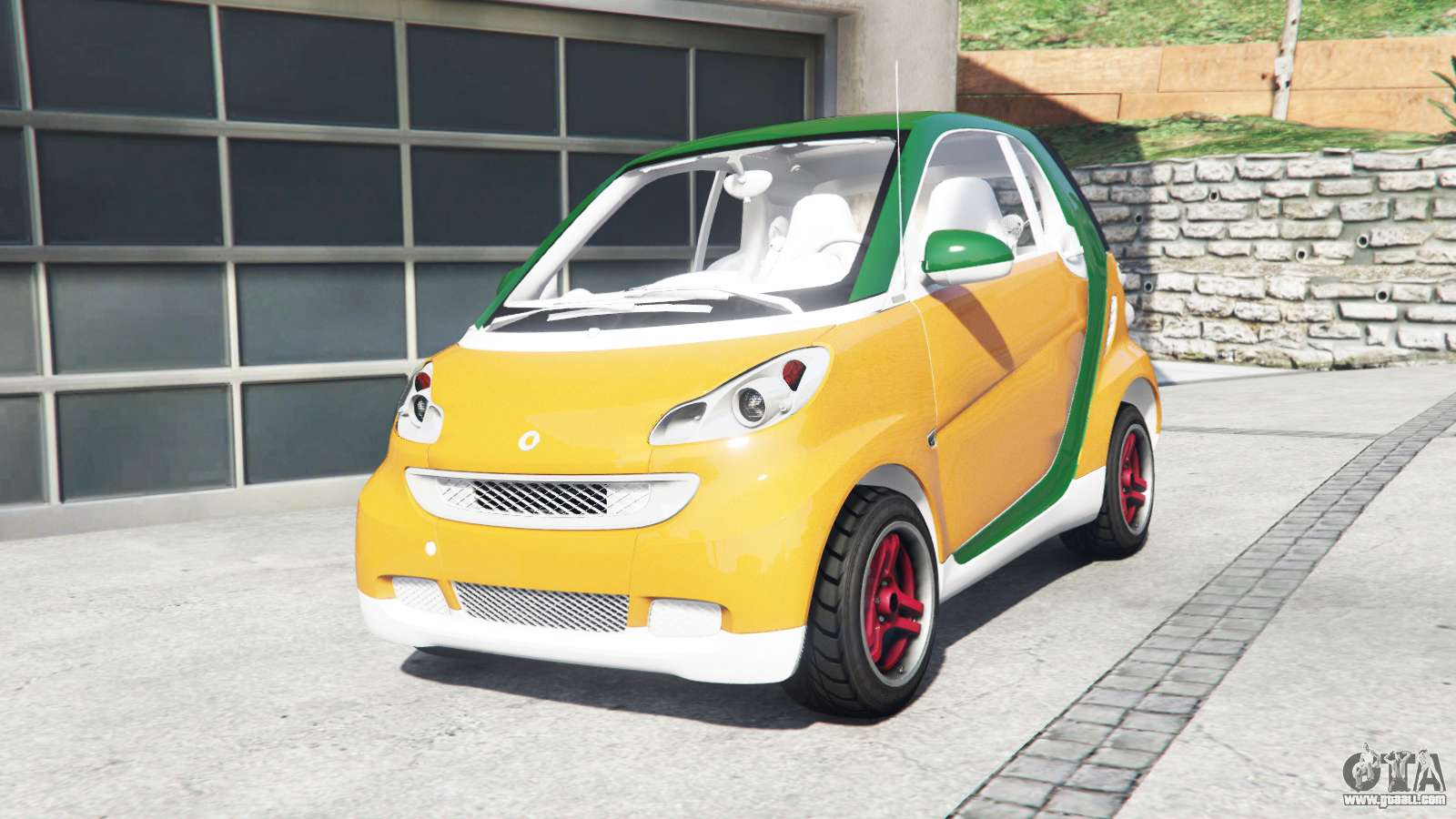 Smart Fortwo 2017 For Gta 5 German Car Very Small Cl To Replace The Benefactor Panto
