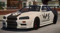 Nissan Skyline GT-R R34 PJ1 for GTA 4