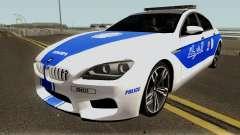 BMW M6 F13 Gran Coupe 2014 Algeria Police for GTA San Andreas