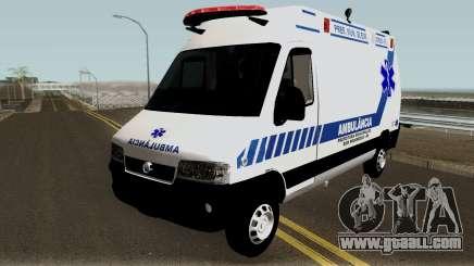 Fiat Ducato Brazilian Ambulance for GTA San Andreas