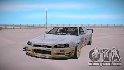 Nissan Skyline GT-R R34 Toyota Chaser for GTA San Andreas