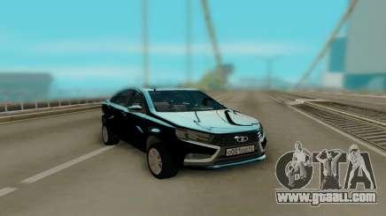 Lada Vesta Black for GTA San Andreas