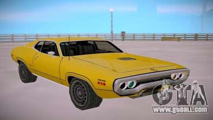 Plymounth GTX 1971 SA StyledLow Poly for GTA San Andreas