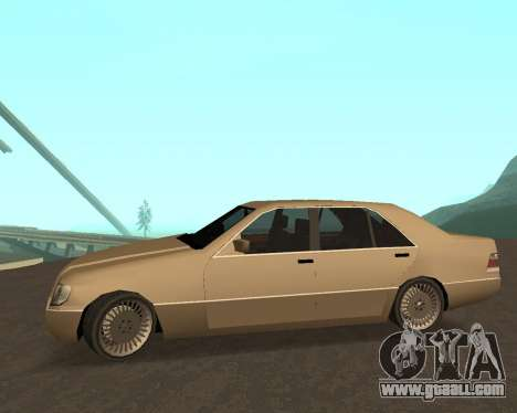 Mercedes-Benz w140 S600 Low Poly for GTA San Andreas