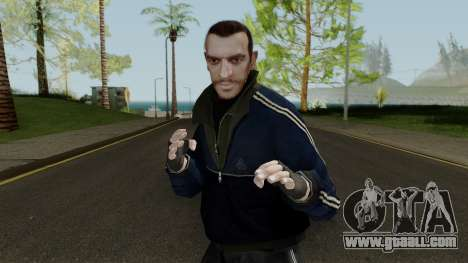 Niko Bellic In Blue Jacket For Gta San Andreas