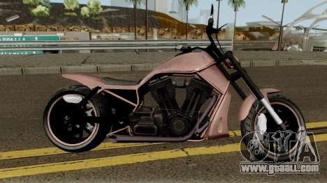 Western Nightblade & V-Rod Style GTA V for GTA San Andreas back view