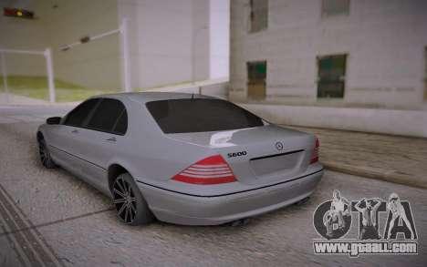 Mercedes-Benz S-class for GTA San Andreas