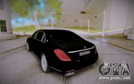 Mercedes-Benz S600 W222 for GTA San Andreas right view