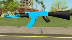 AK47 Blue for GTA San Andreas
