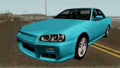 Nissan Skyline R34 Sedan 1999 for GTA San Andreas