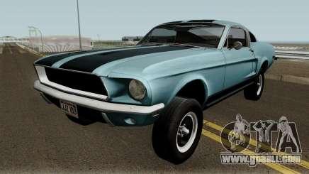 Ford Mustang GT390 Bullitt Edition 1968 for GTA San Andreas