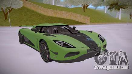 Koenigsegg Agera R Green for GTA San Andreas