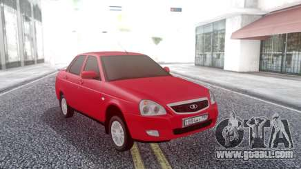 Lada Priora Red for GTA San Andreas