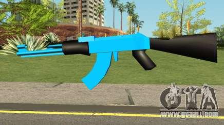 AK47 Blue for GTA San Andreas