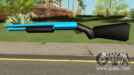 Chromegun Blue for GTA San Andreas