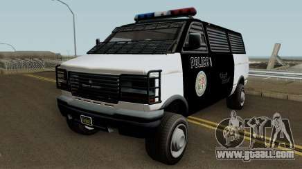 Police Transport Burrito GTA 5 for GTA San Andreas