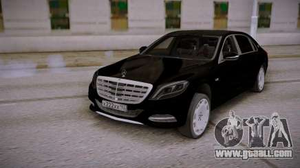 Mercedes-Benz S600 W222 Black for GTA San Andreas