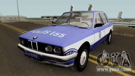 BMW 323i E30 Turkish Police Car for GTA San Andreas