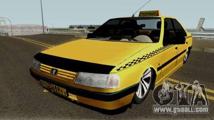 Peugeot 405 GLX Taxi Final v2 for GTA San Andreas