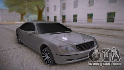 Mercedes-Benz S-class White for GTA San Andreas