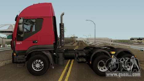 Iveco Trakker Cab High 6x4 for GTA San Andreas left view