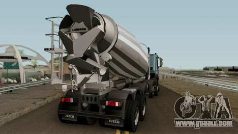 Iveco Trakker Cement 10x6 for GTA San Andreas right view