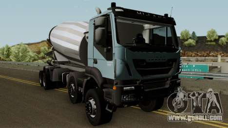 Iveco Trakker Cement 10x6 for GTA San Andreas inner view