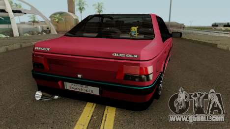 Peugeot 405 GLX for GTA San Andreas right view