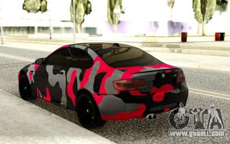 BMW M3 CAMO for GTA San Andreas