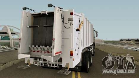 Iveco Trakker Garbage 6x4 for GTA San Andreas right view