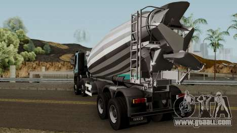 Iveco Trakker Cement 10x6 for GTA San Andreas back left view