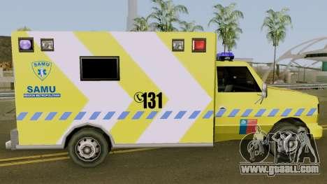 SAMU Ambulance for GTA San Andreas