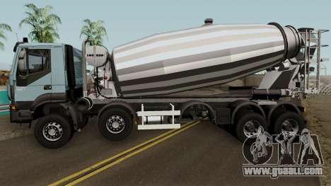 Iveco Trakker Cement 10x6 for GTA San Andreas left view