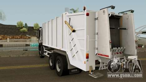Iveco Trakker Garbage 6x4 for GTA San Andreas back left view