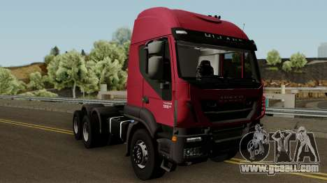 Iveco Trakker Cab High 6x4 for GTA San Andreas inner view