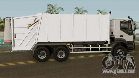 Iveco Trakker Garbage 6x4 for GTA San Andreas back view