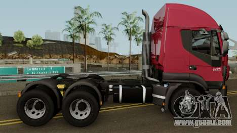 Iveco Trakker Cab High 6x4 for GTA San Andreas back view