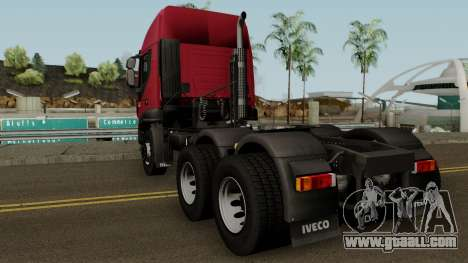 Iveco Trakker Cab High 6x4 for GTA San Andreas back left view
