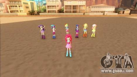 My Little Pony Equestria Girls Mod v1 for GTA San Andreas second screenshot